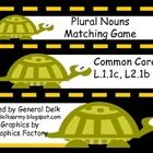 Common Core standards for grades 1-2.  Students practice matching singular nouns to their plurals. Words are color coded, recording sheet included....