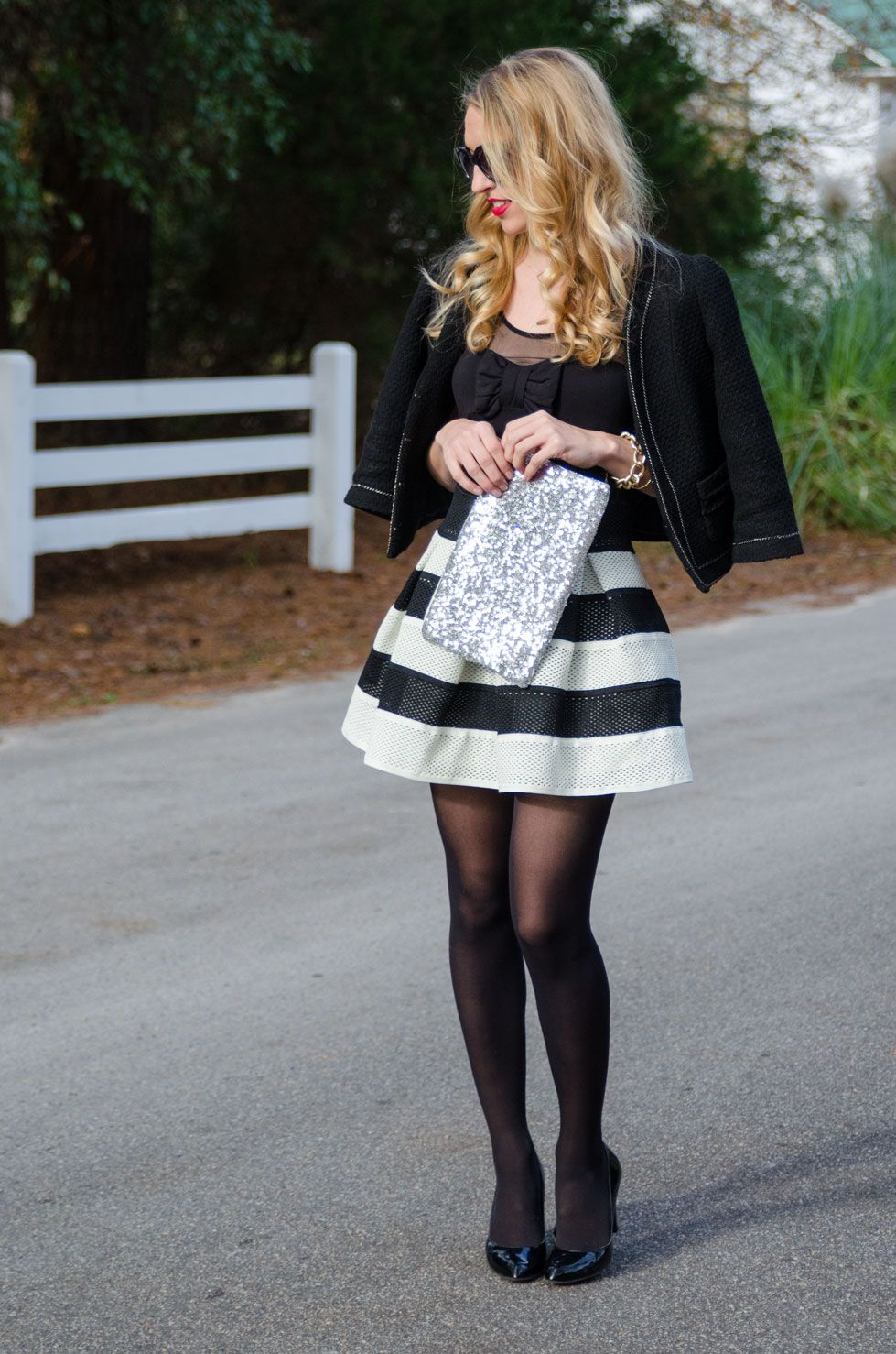 Black and White Skater Skirt Full | ❤ My Style ❤ | Pinterest ...