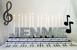 Found the candle lighting kit for our music themed bar mitzvah!!!