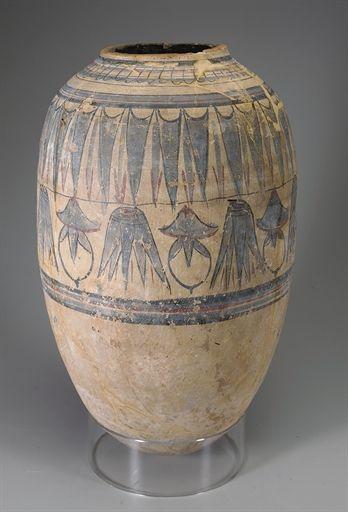 Egyptian Painted Pottery Jar New Kingdom Late Dynasty
