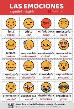 Vocabulario de los sentimientos y las sensaciones » ProfeDeELE.es
