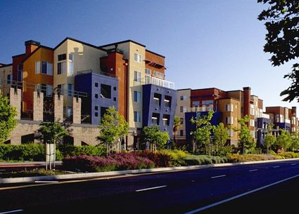 In this multifamily rental project color was used to make - Apartment exterior colour combination ...