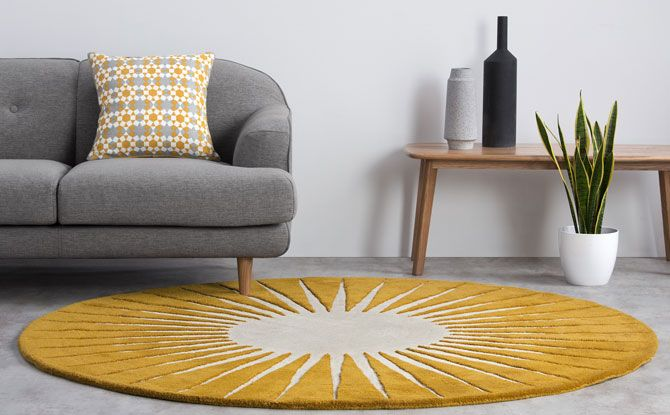 Retro Vaserely rug by Niki Jones for Made is part of Large Living Room With Carpet - Fancy some op art in your living room  If that's the case, it is probably worth having a look at the Vaserely rug by Niki Jones for Made