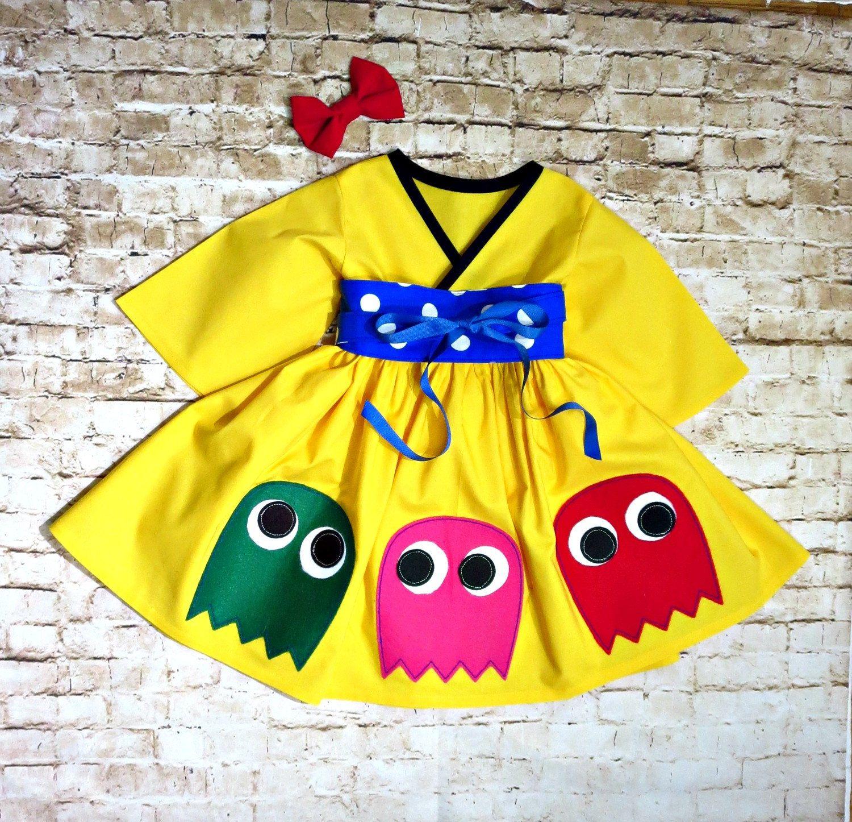 Pac Man Dress - Little Girls Dress - Toddler Girls - Pac ...