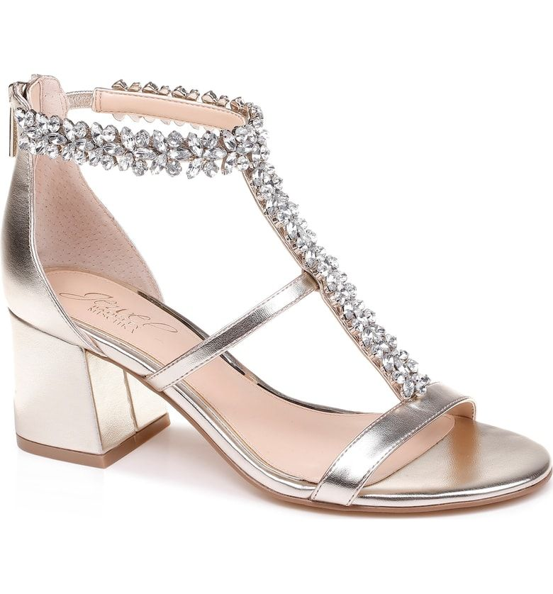 d779aca286 Free shipping and returns on Jewel Badgley Mischka Janica Block Heel Sandal  (Women) at