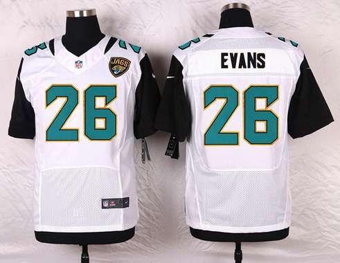 New Jacksonville Jaguars #26 Josh Evans White Road NFL Nike Elite Men's