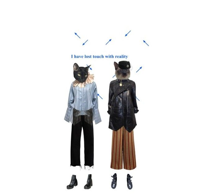 """""""~?~?~?~"""" by rojinnn ❤ liked on Polyvore featuring Marques'Almeida, The Bee's Sneeze, Balenciaga, Vivienne Westwood, BCBGMAXAZRIA and Dorfman Pacific"""