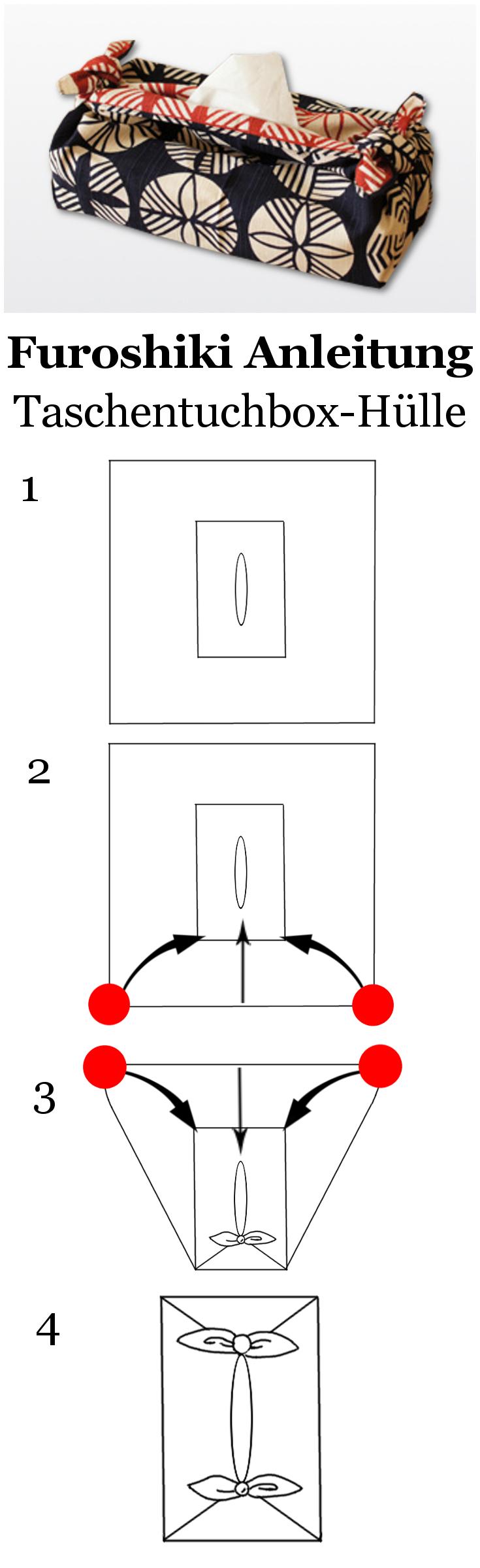 Furoshiki Anleitung - Eine Taschentuchbox-Hülle aus Furoshiki ...