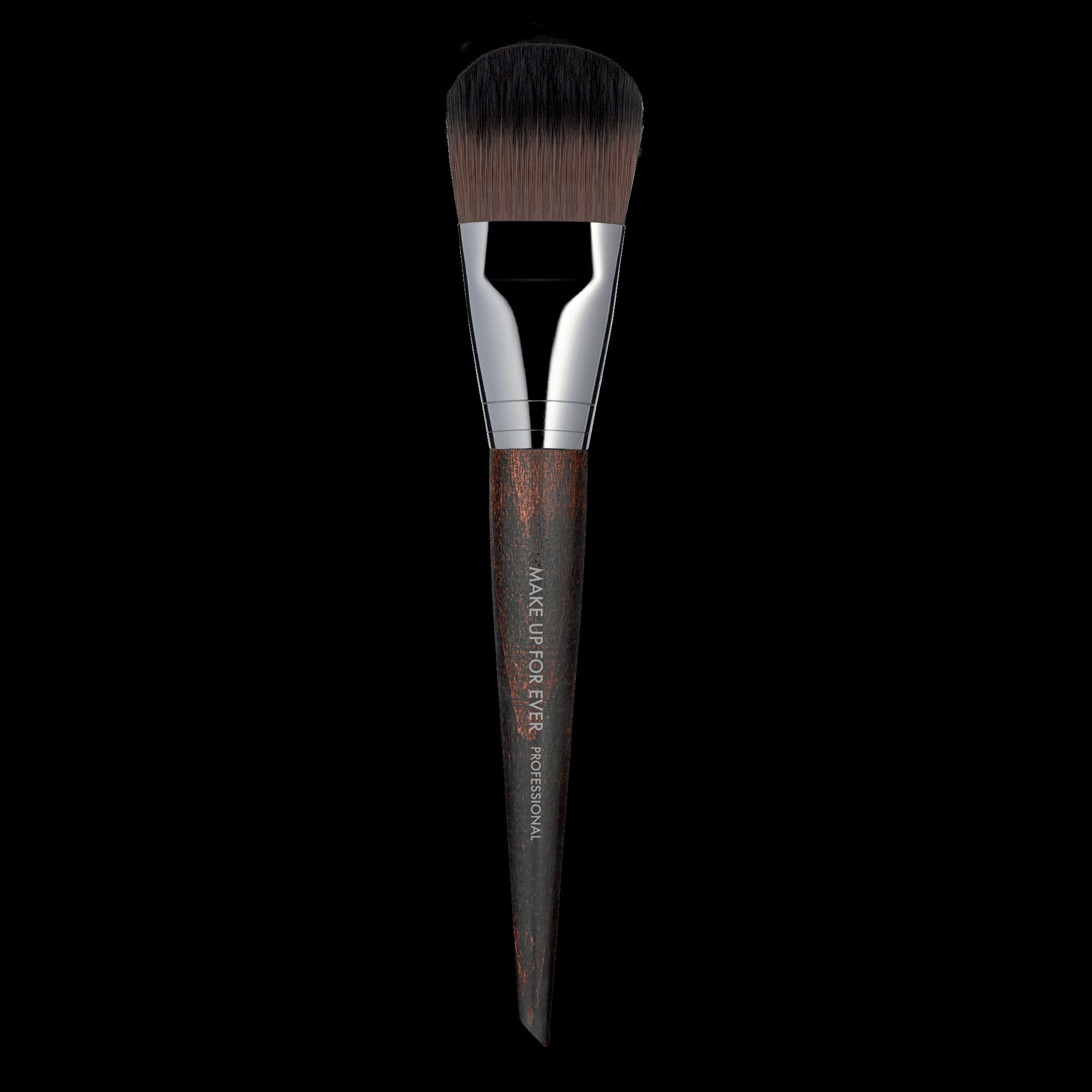 Large flat and rounded brush. Face brush, Foundation