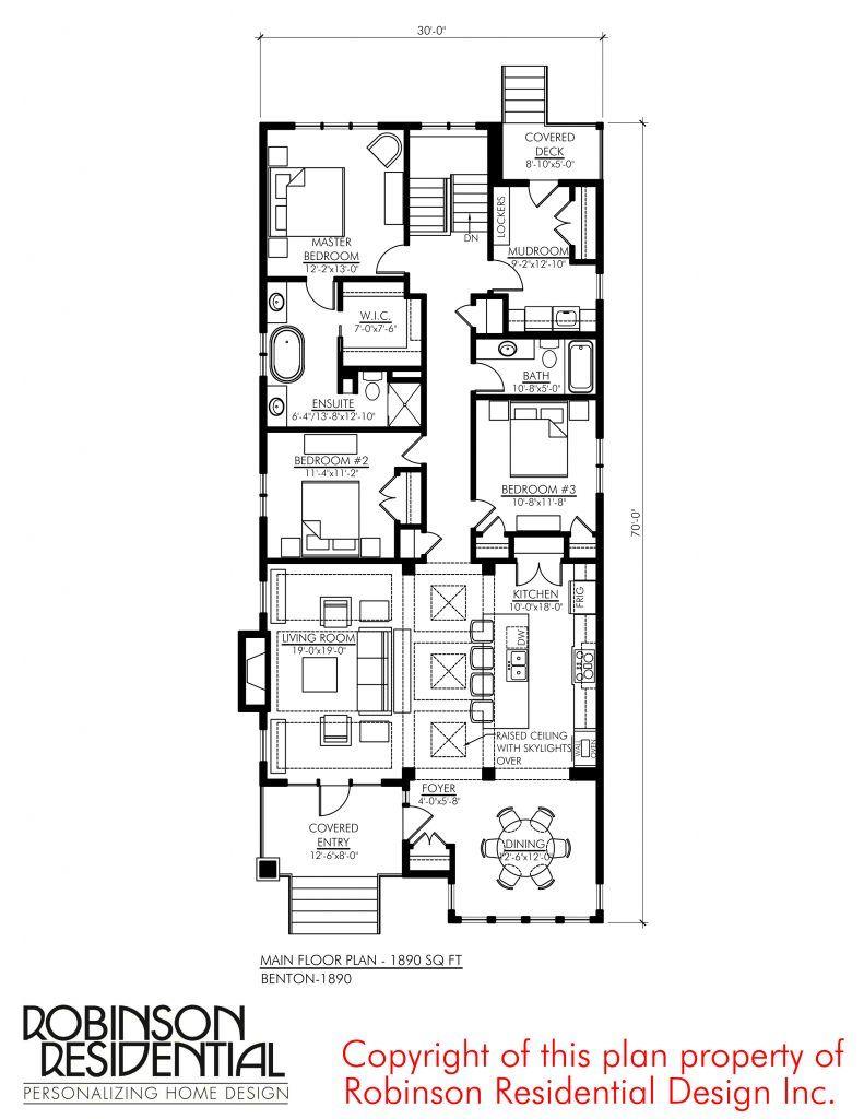 Craftsman Benton 1890 Robinson Plans Narrow Lot House Plans How To Plan Narrow House Plans