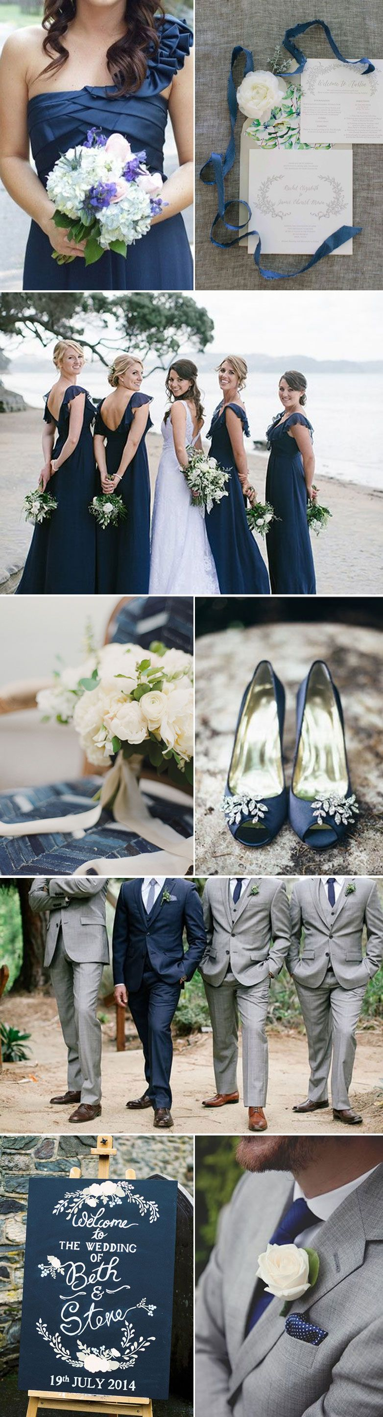 Indigo and silver wedding ideas for brides and grooms pomysły na