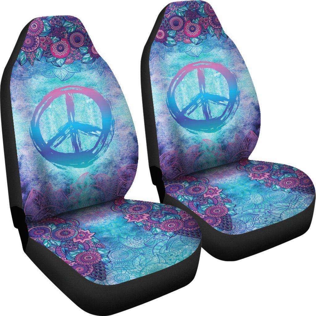 Peace Mandala Blue | Seat covers, Car accessories, Hippie car