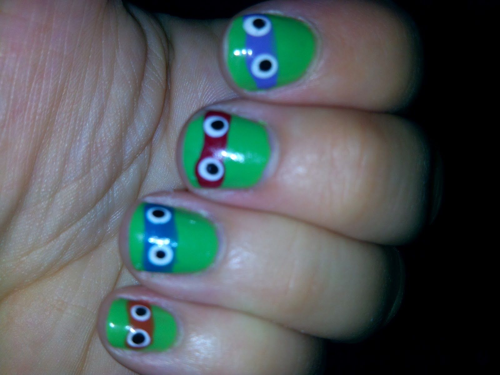 Ninja turtle nails | Nail art | Pinterest | Ninja turtle nails ...