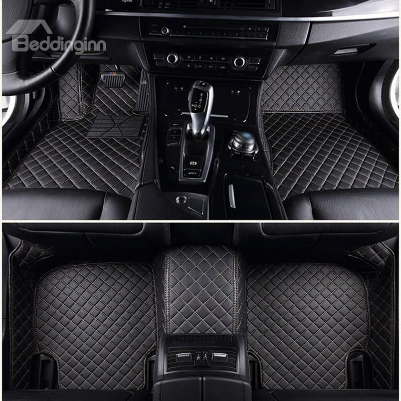 Top Notch Custom Made Grid Line Design Onefold Color Custom Fit Car Floor Mats Custom Car Floor Mats Car Floor Mats Custom Cars