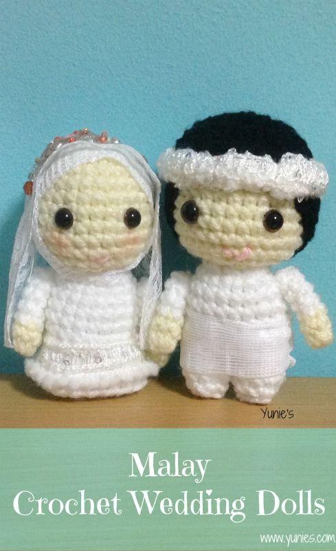 PDF Crochet Pattern - Bride and Groom | Crochet patterns, Crochet ... | 800x489