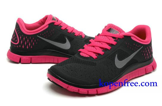 size 40 3ff96 87000 Goedkoop Schoenen Nike Free 4.0 V2 Dames (kleurvamp-zwartlogo-witbinnenzool-roze  ) Online Winkel.