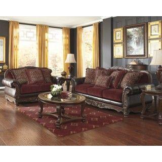 Ashley Furniture Signature Design Weslynn Place Burgundy Living Room Group At Big Sandy Supers Burgundy Living Room Couch And Loveseat Set Living Room Sets