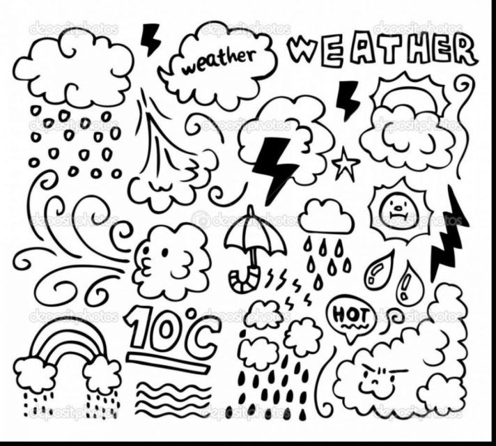New Coloring Pages Top 49 Peerless Weather Pdf Design Di 2020