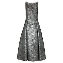 Buy Adrianna Papell A-Line Metallic Dress, Black/Silver Online at johnlewis.com