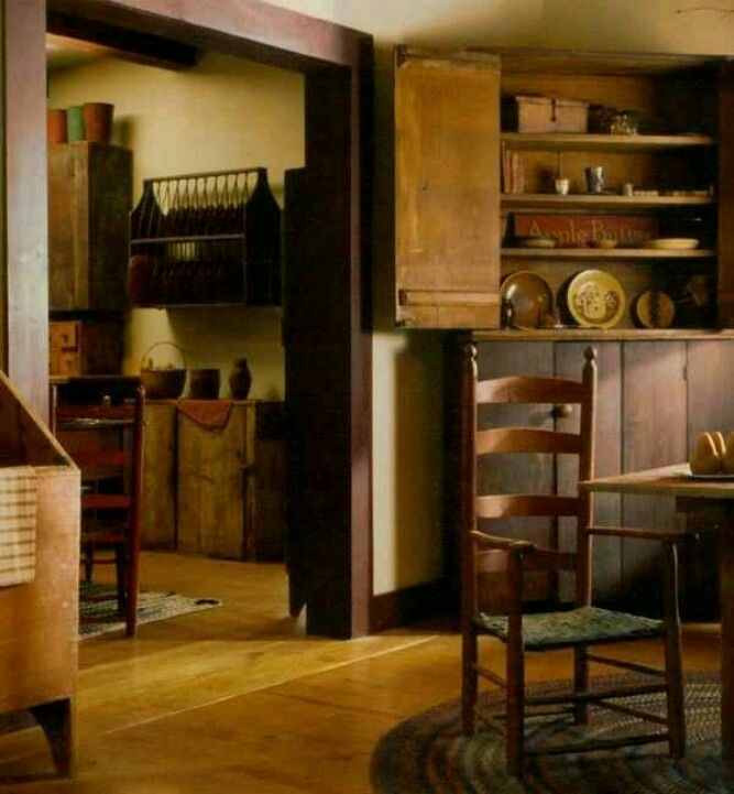 Primitive Dining Room Furniture: .luv All The Prim Details In A Modern World