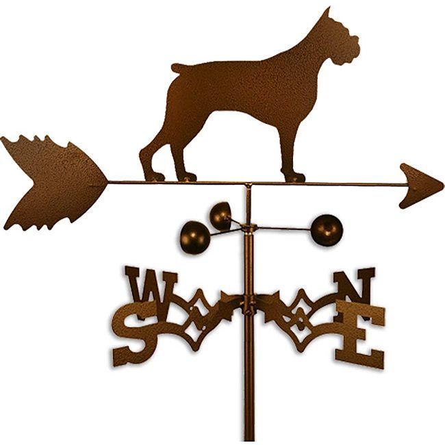 Handmade Boxer Dog Copper Weathervane Wire Haired Dachshund English Sheepdog Dog Airedale Dogs