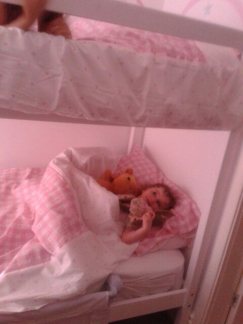 1st time in big girl bed....exciting!