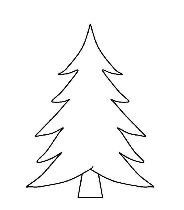 Blank Christmas Tree Coloring Page Let S Get Crafty