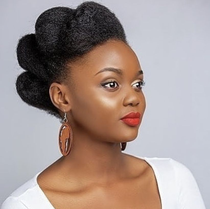 Natural Hair Updo Styling For Black Women To Style Their Hair At Home Natural Hair Updo Natural Hair Styles Hair Styles