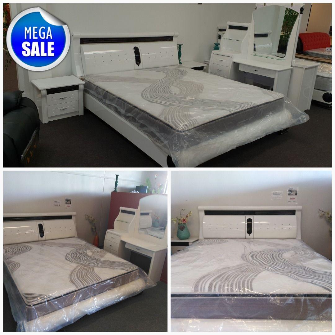 3311 White Color 6 Pcs Modern Bedroom Package Modern Bedroom