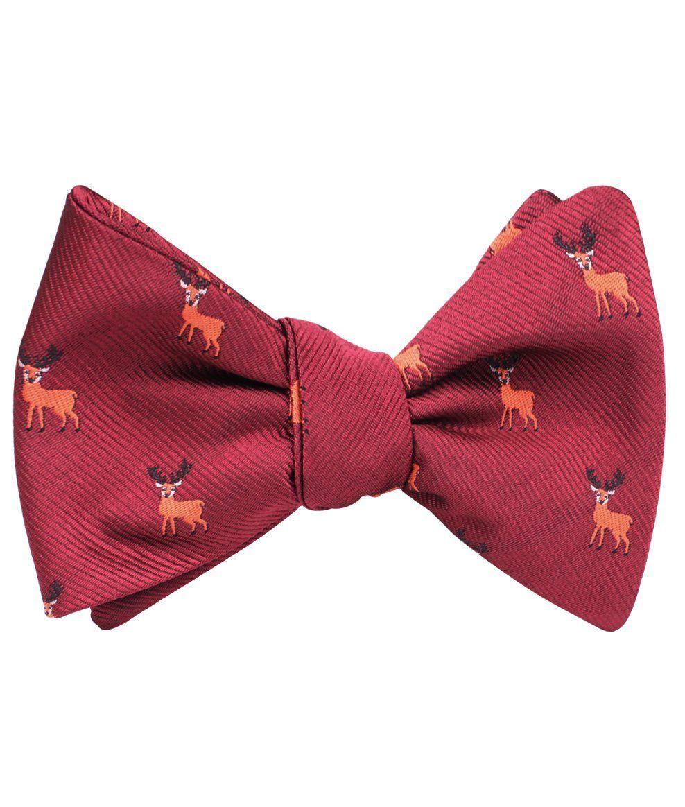 Siberian Reindeer Self Bow Tie Mens bow ties, Bows