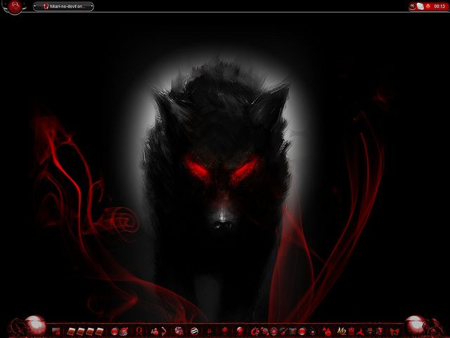 Pin On The Beautiful And Voracious Wolf Anime wallpaper red wolf