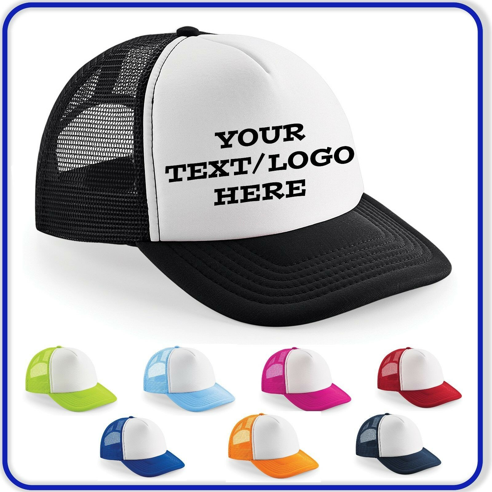 PERSONALISED SNAPBACK CAPS ~ ANY TEXT//IMAGE PRINTED ~ Baseball Rapper Hip Hop
