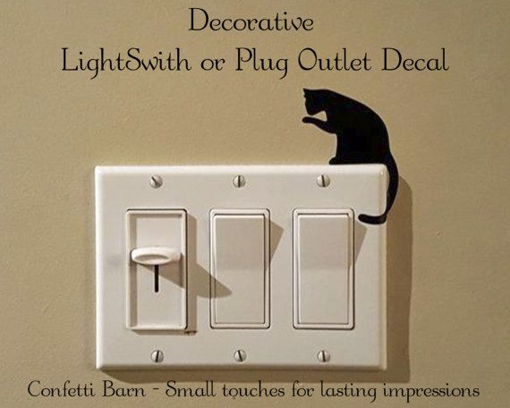 Pin By Confetti Barn On Confetti Barn Pinterest Wall Wall - Vinyl-decals-to-decorate-light-switches-and-outlets