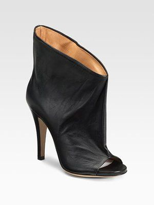 bef6f4a8e616 Maison Martin Margiela Open-Toe Ankle Boots (these would make my legs look  more chunky but OH MY GODDDDDD)
