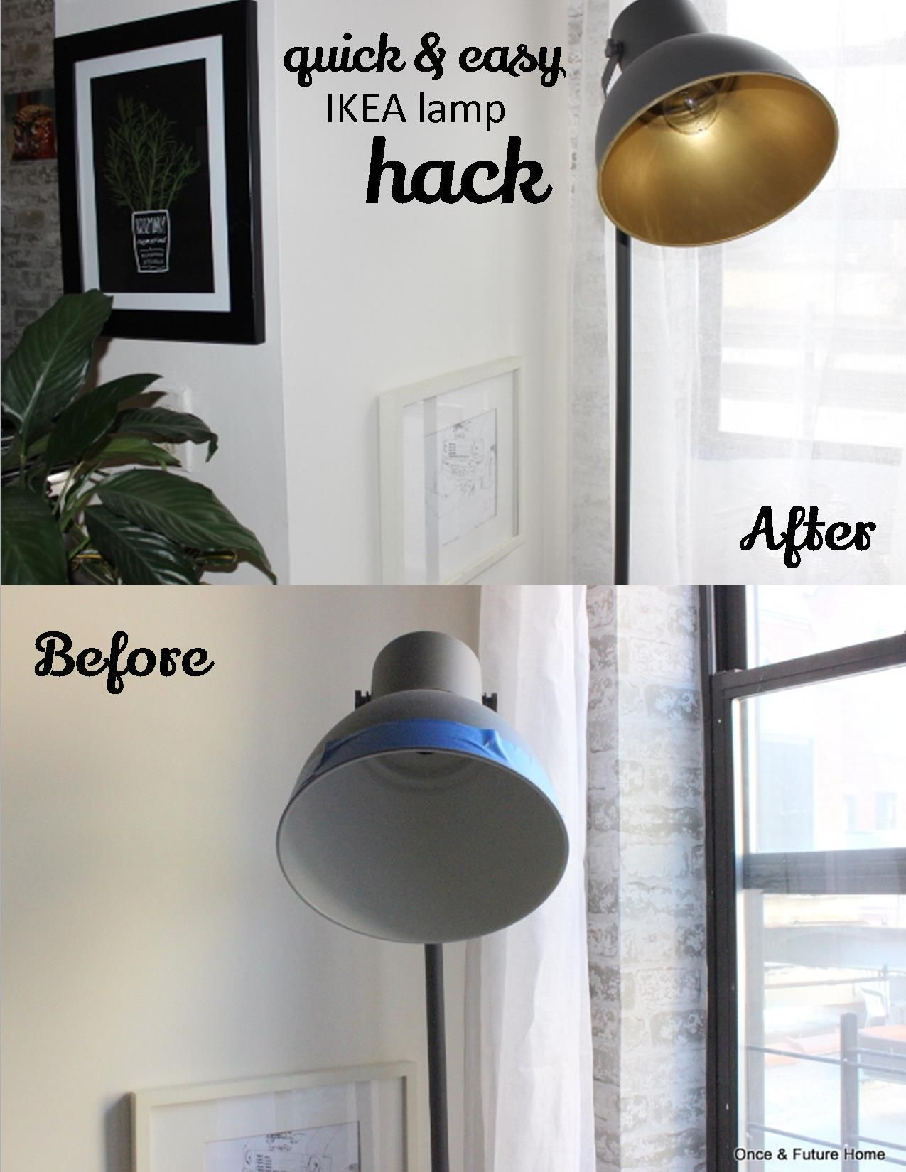Ikea lamp makeover home pinterest lamp makeover bronze and