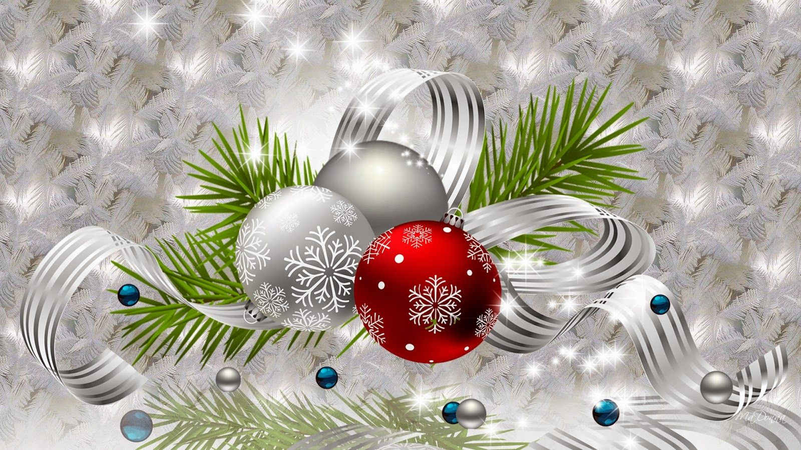Silver Bells Wallpaper Background | PIXHOME: Christmas tree ...