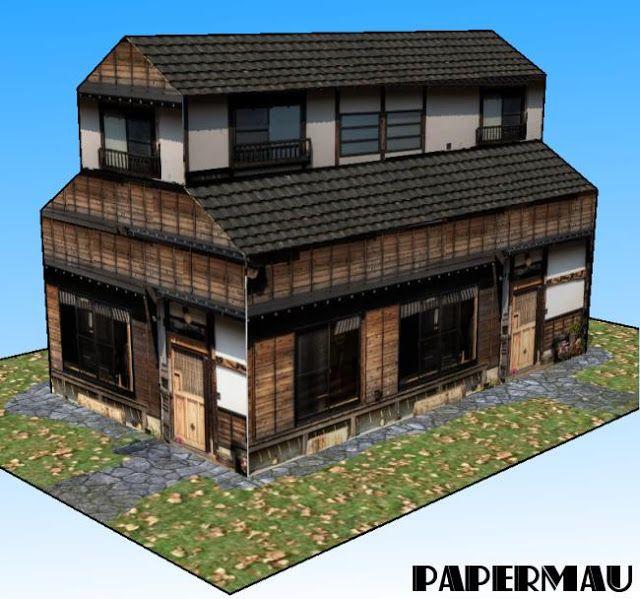 Japanese paper house model