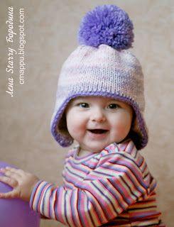 Детская зимняя шапочка с ушками   как связать шапочку для мальчика спицами  с ушками - на бэби.ру 037d92c082adc