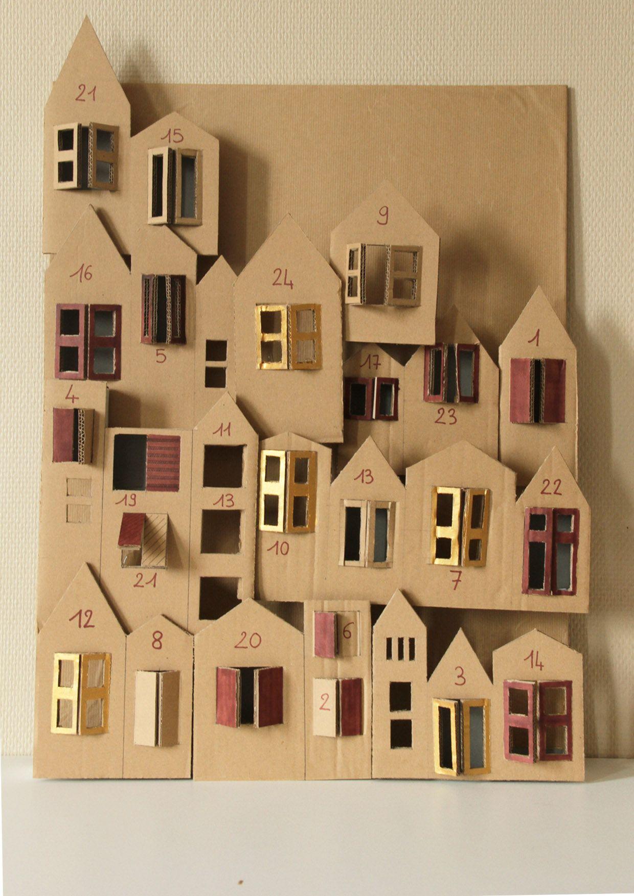 Pinterest Calendrier Avent #15: Advent Calendar SMALL TOWN / Calendrier De Lu0027avent Ville De Carton