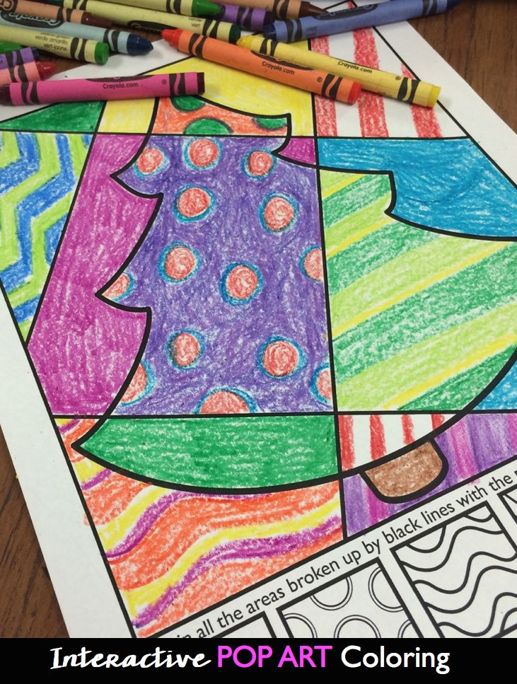 Interactive Pop Art Coloring For Kids More Then Just Coloring Christmas And Hanukkah Included Pop Art For Kids Kids Canvas Art Christmas Coloring Pages