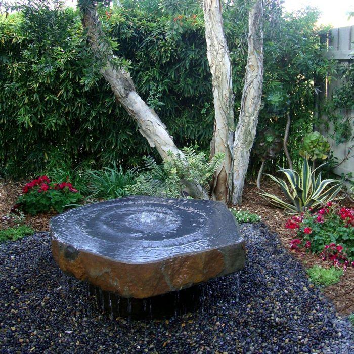 Attraktiv Gartendeko Ideen Brunnen Gartengestaltung Ideen Wasser