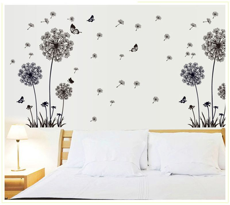 Butterflies Flying In Dandelion Wall Stickers Home Decor Living Room
