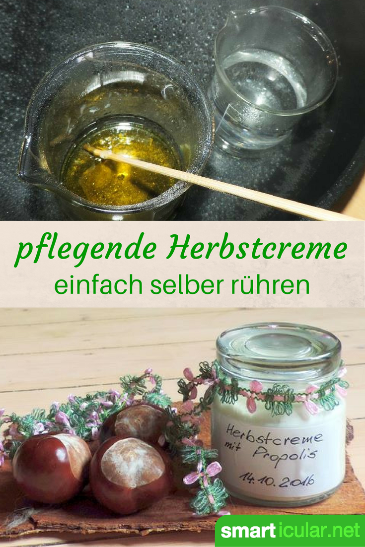 pflegende hautcreme f r den herbst selbstgemacht mit propolis cremes selber r hren. Black Bedroom Furniture Sets. Home Design Ideas
