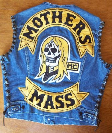 Mothers Mass Mc Vintage Chain Stitching Mc Patch Motorcycle Clubs Motorcycle Patches Biker Clubs