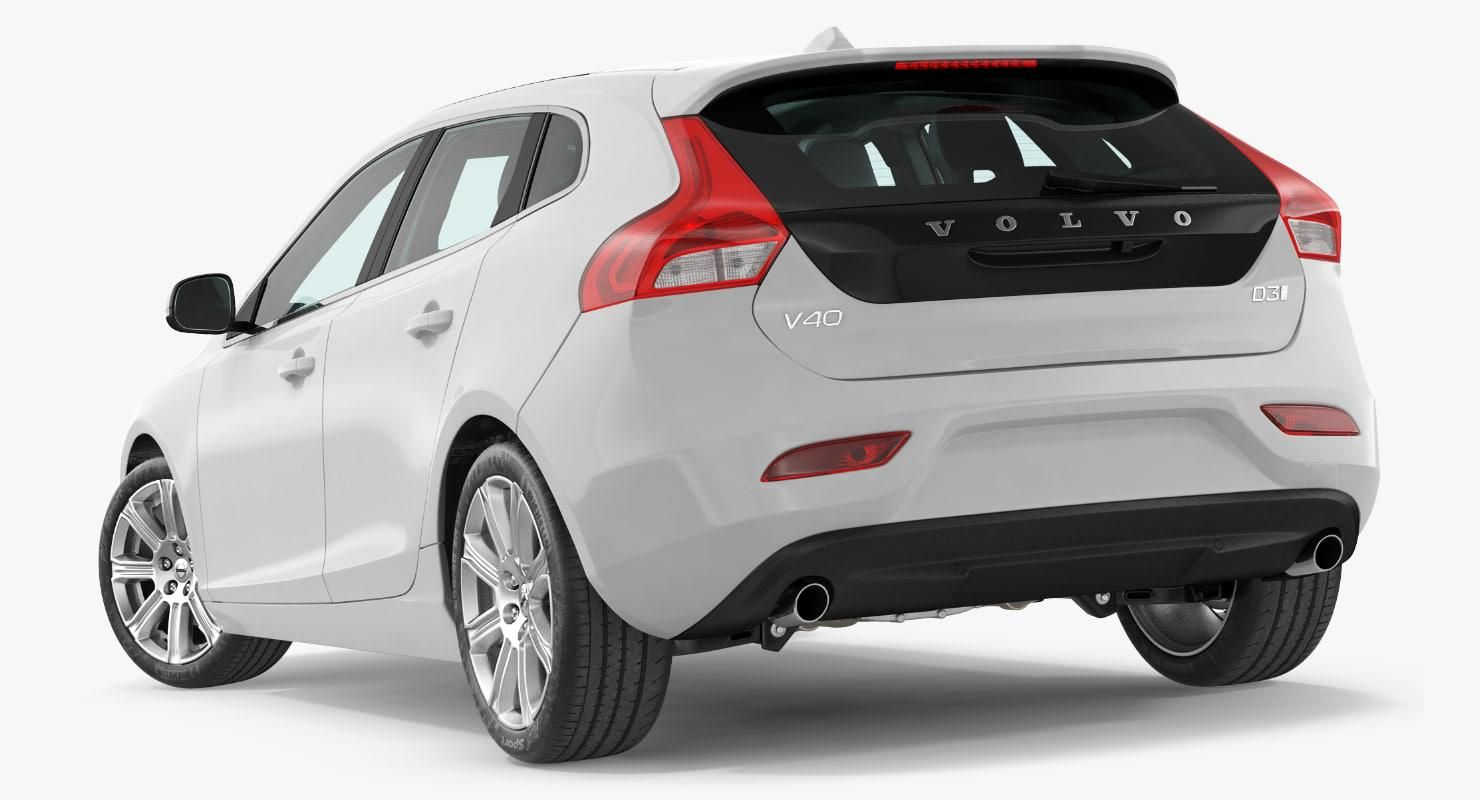 Volvo V40 Hatchback Simple Interior 3d Model Ad Hatchback Volvo Model Interior Volvo V40 Volvo Hatchback