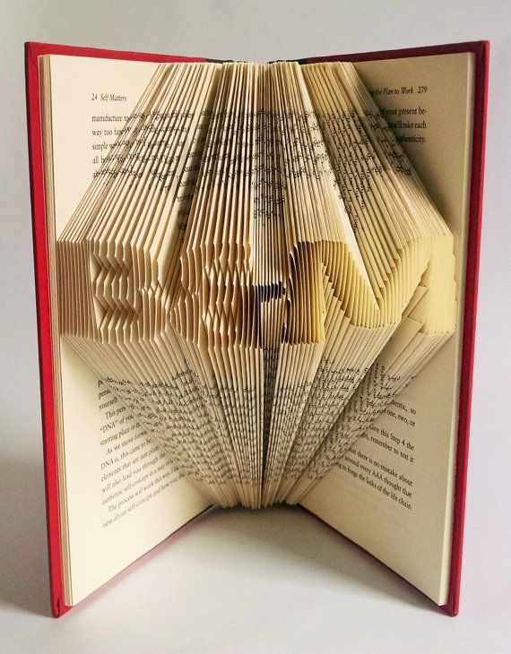 Book Lover Gift Folded Book Art Gift For Reader Wedding