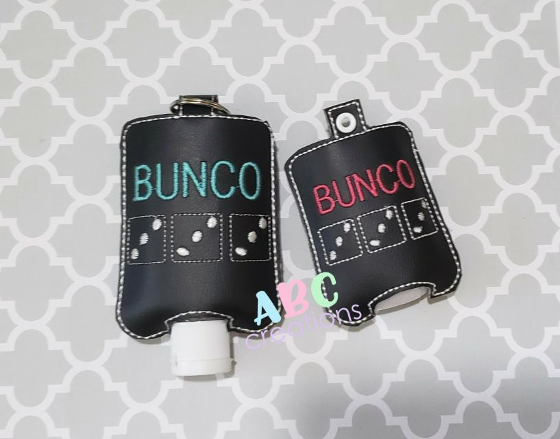 Bunco Hands Sanitizer Holders Key Chain Hand Sanitizer Holder