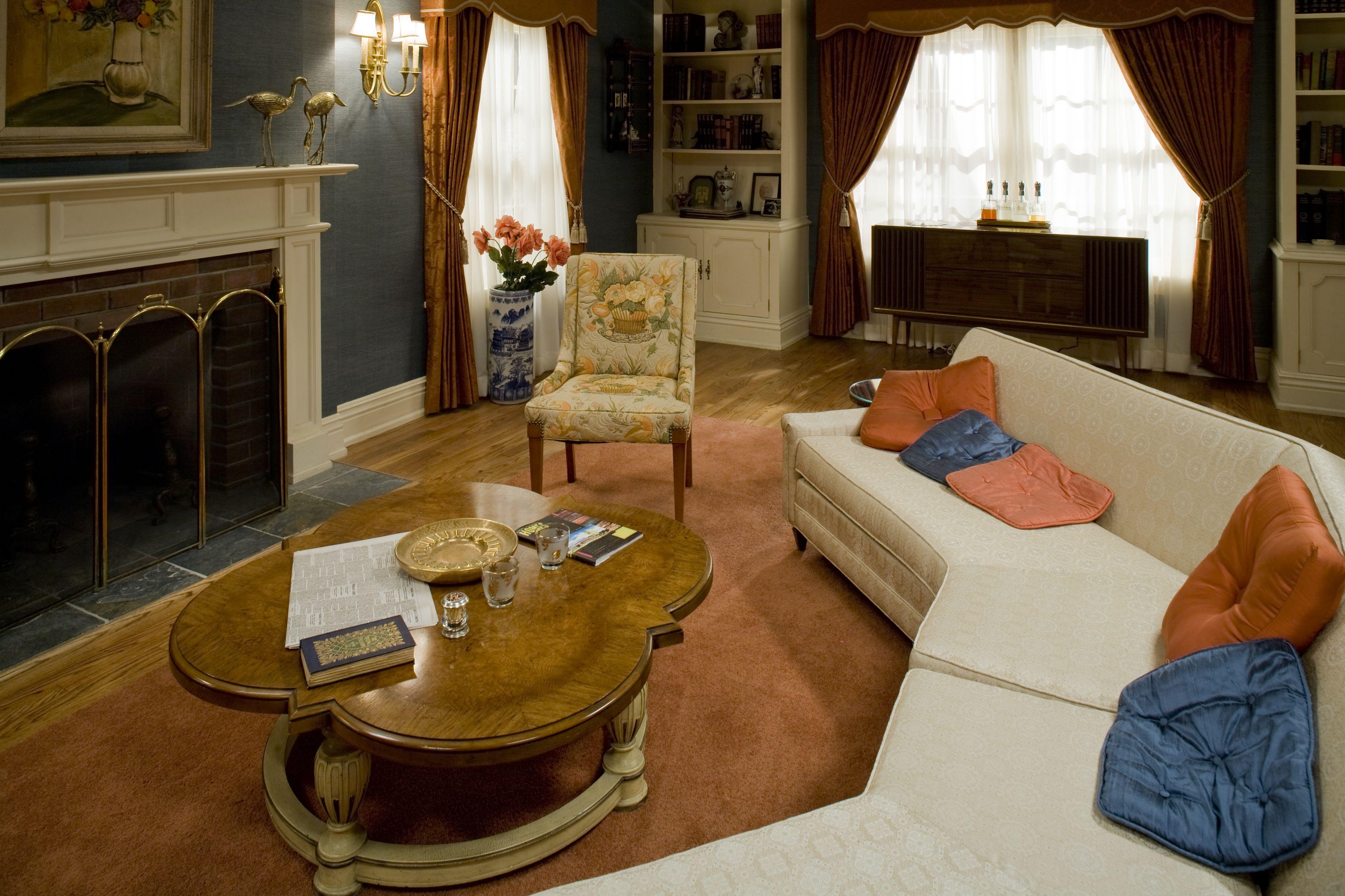 The Draper Living Room Design Retro MadMen