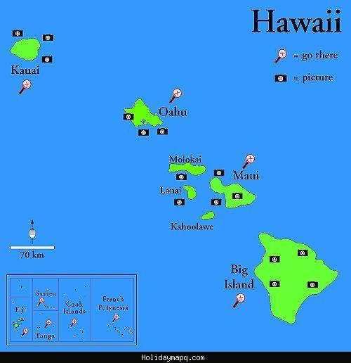 Hawaii Pacific Map cool Island near hawaii | Holidaymapq | Map of hawaii, Hawaii, Island