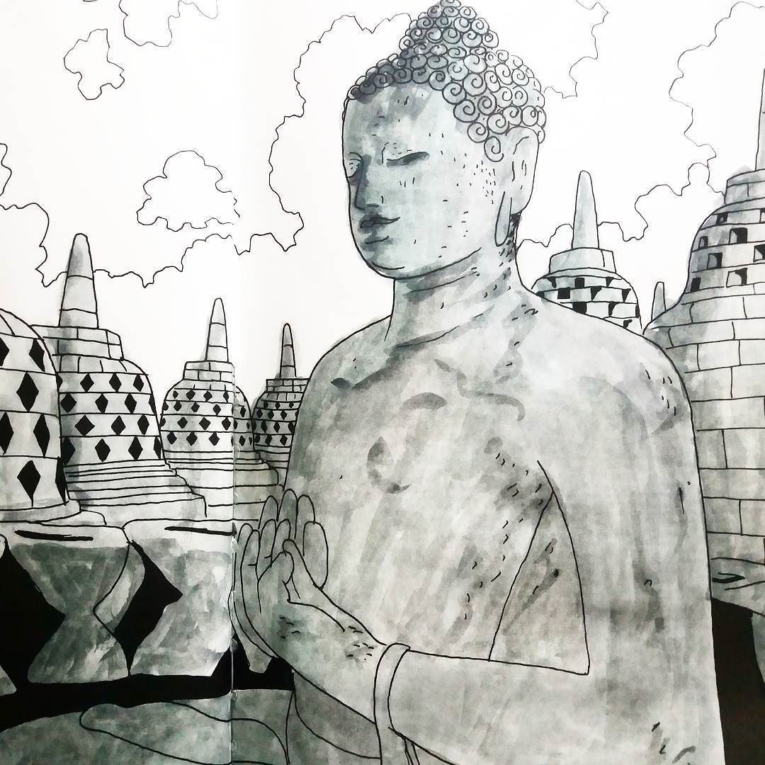 Borobudur Temple Indonesia Glad This Come Up In My Collection Of Coloring Book